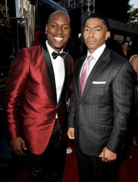 Tyrese Gibson and Darrell Foster at the premiere of