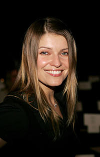 Ivana Milicevic at the Jenni Kayne Fall 2005 show in Culver City, California, during Mercedes-Benz Fashion Week.