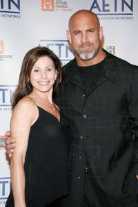 Bill Goldberg and wife Wanda at the A&E Television Networks Upfront celebration.