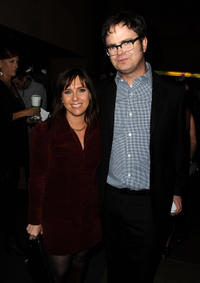Miranda Bailey and Rainn Wilson at the California premiere of