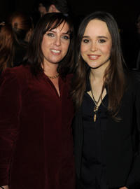 Miranda Bailey and Ellen Page at the California premiere of