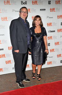 Producer Ted Hope and Miranda Bailey at the premiere of