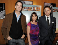 Producer Glenn Williamson, Miranda Bailey and Matthew Leutwyler at the California premiere of