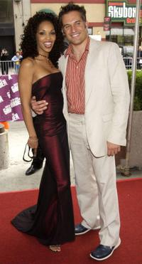 Gretchen Palmer and David Lee Russek at the 29th Annual Daytime Emmy Awards.