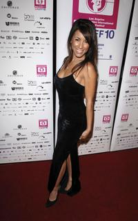 Delilah Cotto at the Los Angeles Latin International Film Festival (LALIFF) closing night gala.
