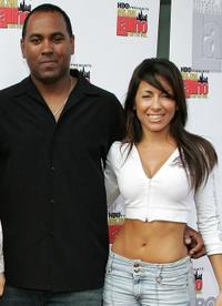 Director Michael D. Olmos and Delilah Cotto at the premiere of