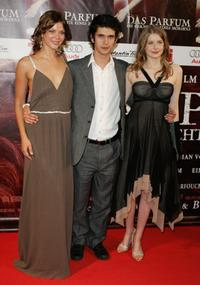 Jessica Schwarz, Ben Whishaw and Rachel Hurd-Wood at the world premiere of