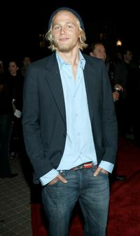 Charlie Hunnam at the premiere of