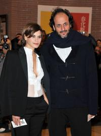 Valentina Cervi and Luca Guadagnino at the premiere of
