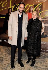 Luca Guadagnino and Silvia Venturini Fendi at the screening of