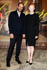 Luca Guadagnino and Tilda Swinton at the screening of