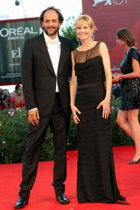 Luca Guadagnino and Ingeborga Dapkunaite at the premiere of
