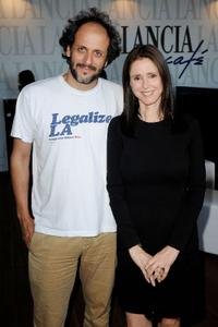 Luca Guadagnino and director Julie Taymor at the 67th Venice International Film Festival.