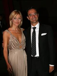 Chiara Conti and Luca Guillot Boschetti at the Lancome Party at Pelota in Milan, Italy.