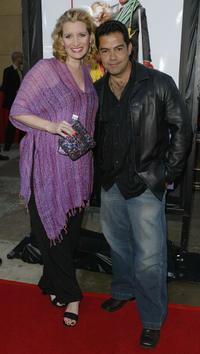 Suzanne Friedline and Carlos Gomez at the premiere of
