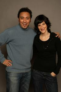 Aasif Mandvi and Lillian LaSalle at the 2008 Sundance Film Festival.