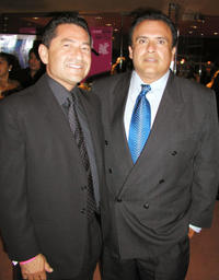 Mike Gomez and Jerry Velasco at the after party of 7th Annual Los Angeles Latino International Film Festival.