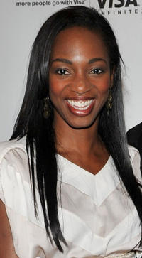 Enuka Okuma at the E1 Entertainment party during the 35th Toronto International Film Festival.