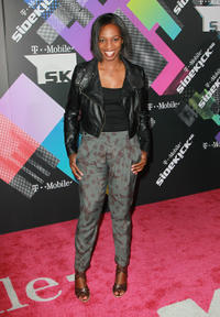 Enuka Okuma at the T-Mobile Sidekick 4G Launch Event in California.