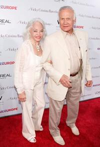 Lois Aldrin and Buzz Aldrin at the Los Angeles premiere of