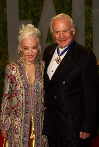 Lois Aldrin and Buzz Aldrin at the 2009 Vanity Fair Oscar Party.