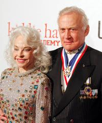 Lois Aldrin and Buzz Aldrin at the 6th Annual Living Legends of Aviation Awards ceremony.