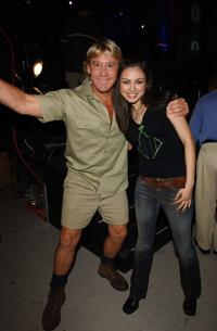 Steve Irwin and Mila Kunis at the 15th Annual Nickelodeon Kid's Choice Awards.