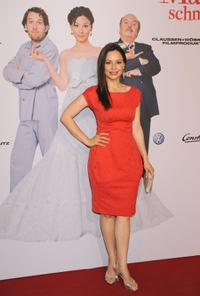 Mina Tander at the world premiere of