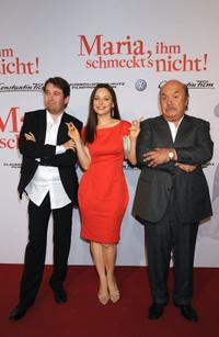 Christian Ulmen, Mina Tander and Lino Banfi at the world premiere of