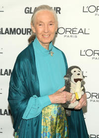 Jane Goodall at the 19th Annual GLAMOUR Women Of The Year Awards in New York.