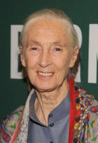 Jane Goodall at the Barnes & Noble Union Square in New York.