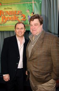 John Goodman and Steve Trenbirth at the premiere of