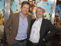 Hugh Grant and Peter Lord at the UK premiere of