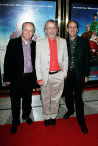 Nick Park, Peter Lord and Guest at the UK premiere of
