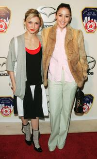 Samaire Armstrong and Bree Turner at the unveiling of the new convertible Mazda MX-5.