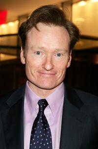 Conan O Brien at the gala to honor leaders in tourism sponsored by NYC and Company.