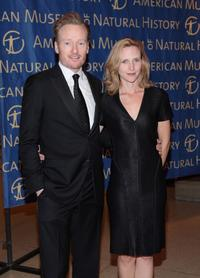 Conan O Brien and his wife Liza Powel at the Museum Gala 2007.