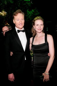 Conan O'Brien and Liza Powel at the 58th Annual Primetime Emmy Awards.