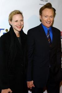 Liza Powell and Conan O'Brien at the Stand Up For Heroes: A Benefit For The Bob Woodruff Family Fund.