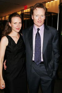 Liza Powell and Conan O'Brien at the Museum of Modern Art.
