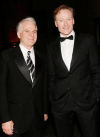 Steve Martin and Conan O'Brien at the American Museum Of Natural History's Annual Museum Gala.
