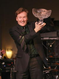 Conan O'Brien at the 2008 Young Leaders Irish Spirit Awards.