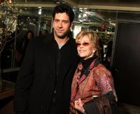 Troy Garity and Jane Fonda at the screening of