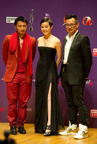 Nicholas Tse, Denise Ho and Guest at the 29th Hong Kong Film Awards.