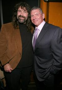 Mick Foley and Vince McMahon at the after party of the premiere screening of