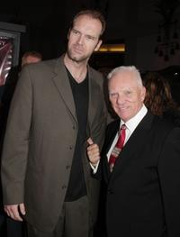 Tyler Mane and Malcolm McDowell at the premiere of
