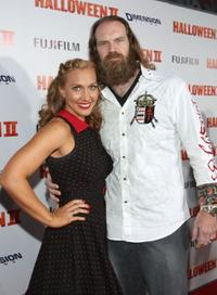 Renae Geerlings-Mane and Tyler Mane at the premiere of