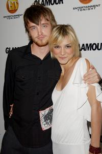 Aaron Paul and Samaire Armstrong at the California screening of