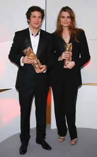 Guillaume Canet and Marina Hands at the 32nd Cesars film awards ceremony.