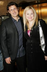 Kostaki Economopoulos and Caroline Rhea at the premiere of